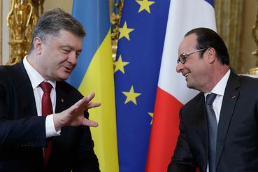 На переговорах в среду Петр Порошенко пытался убедить Франсуа Олланда в необходимости быстрее углублять интеграцию между Украиной и ЕС