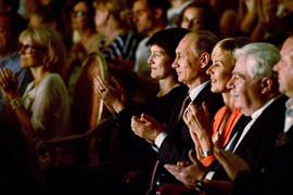 Президент Владимир Путин на спектакле «Лица» в театре Et cetera