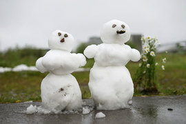 6 июля 2015 г. в Воркуте выпал снег из-за холодного атмосферного фронта