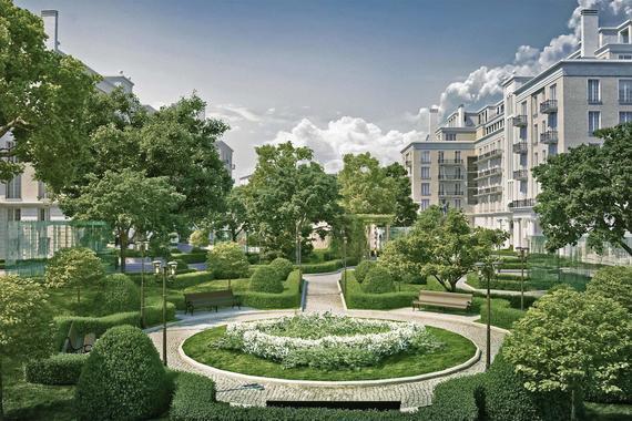 В ЖК Knightsbridge Private Park запланирован парк, который займет 2/3 территории.