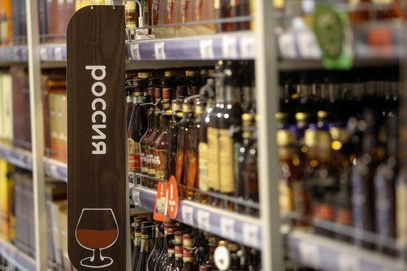 Согласно отчету спиртные напитки входят в список часто похищаемых товаров в России
