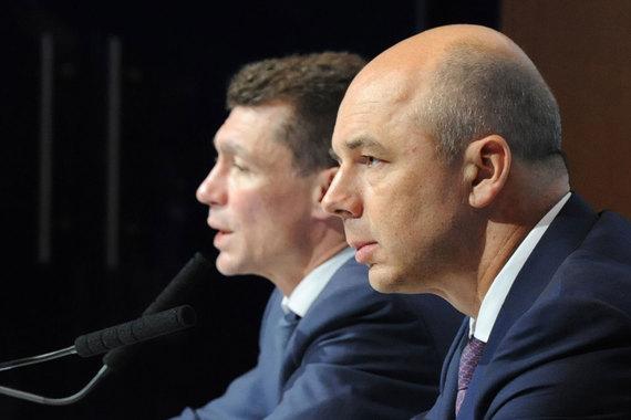 Министр финансов Антон Силуанов и министр труда и соцзащиты Максим Топилин