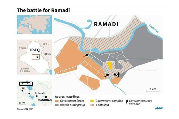 Иракские войска вошли в правительственный район Эр-Рамади