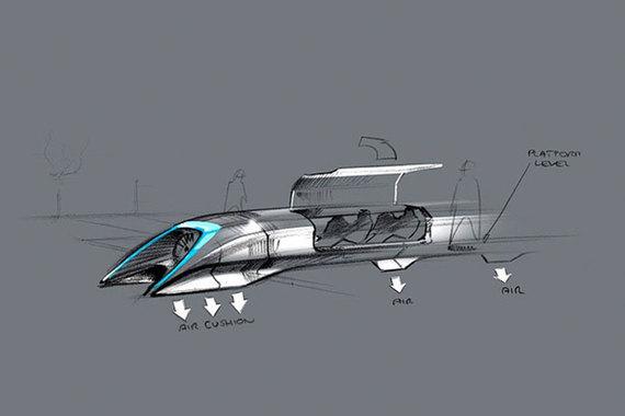 Так Илон Маск представлял себе новый вид транспорта, когда объявил об идее