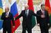 Владимир Путин, Александр Лукашенко и Петр Порошенко
