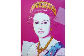 Paddle8 работает с сегментом современных произведений стоимостью $2000–20 000. На фото: лот аукционного дома, портрет королевы Елизаветы II работы Энди Уорхола