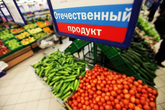 Продуктов питания, произведенных в России, на полках магазинов стало больше