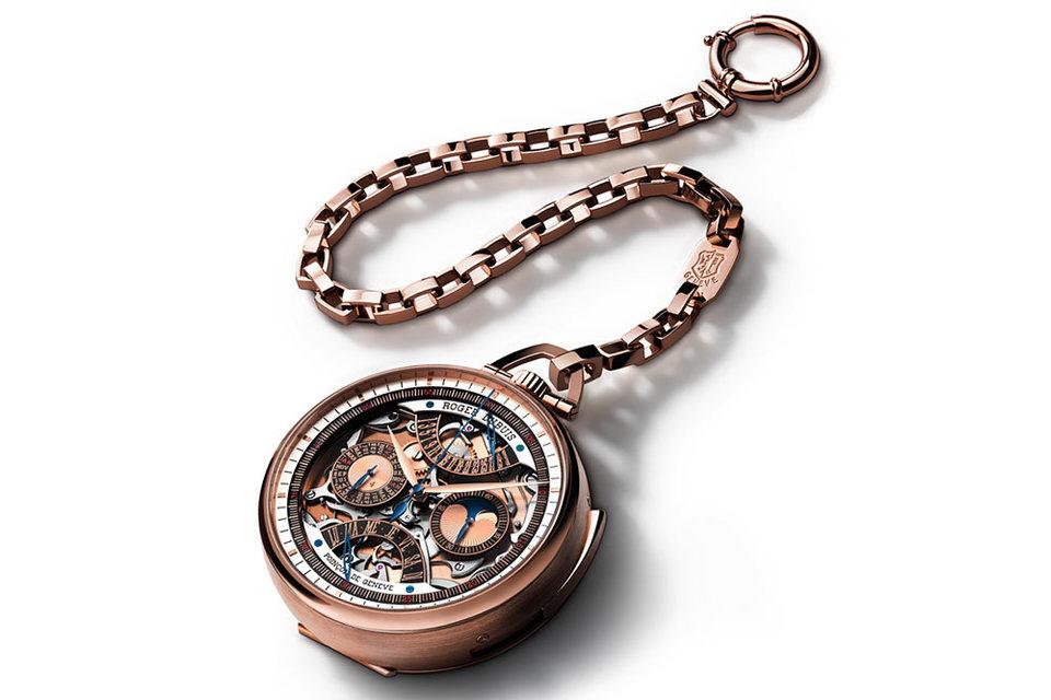 Первые часы в серии Millésime Hommage – карманные, с восстановленным механизмом конца XIX – начала XX в.