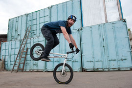 Дмитрий Нечаев с детства обожает велосипеды и занимается триалом