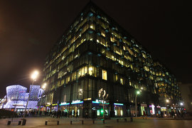 В комплекс «Метрополиса» входят торгово-развлекательный центр (205 000 кв. м) и три офисных здания (110 000 кв. м)