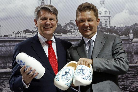 «Газпром» и Shell (на фото их руководители Алексей Миллер и Бен ван Берден) готовы к обмену активами