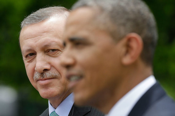 Президент Турции Реджеп Тайип Эрдоган и президент США Барак Обама