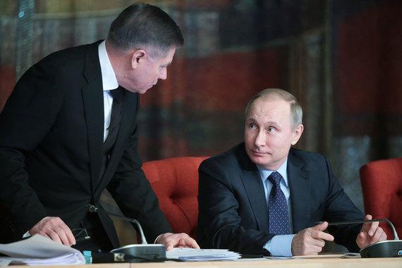 Владимир Путин попросил Вячеслава Лебедева (слева) обратить внимание на проблемы бизнеса