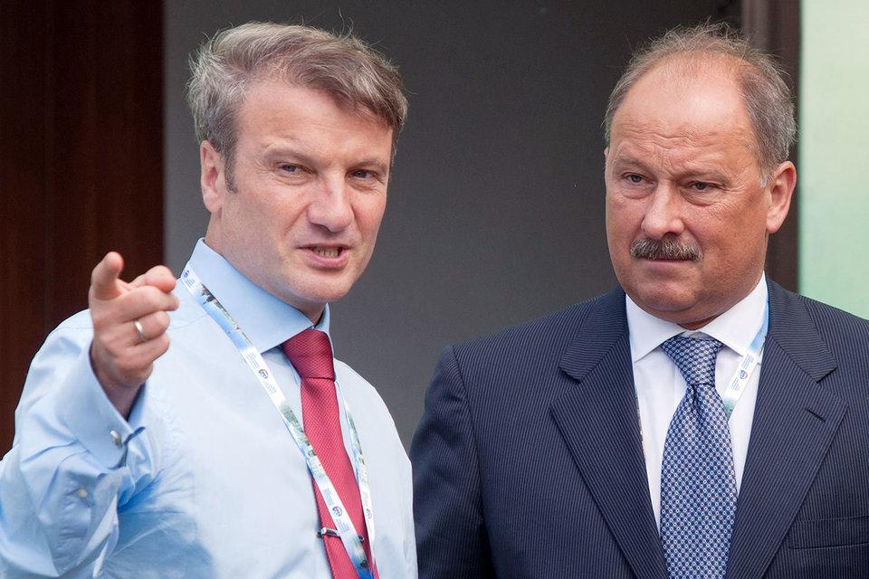 Президент Сбербанка Герман Греф и председатель ВЭБа Владимир Дмитриев
