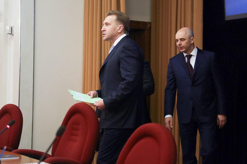 Экономический блок правительства получил от Morgan Stanley низкую оценку (на фото слева направо первый вице-премьер Игорь Шувалов и министр финансов Антон Силуанов)