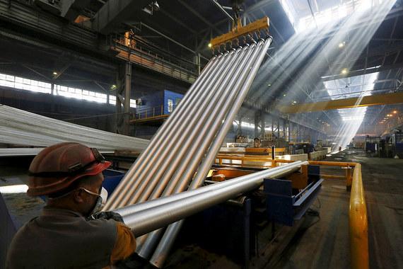 17,02% производителя алюминия UC Rusal. На фото: Саяногорский алюминиевый завод