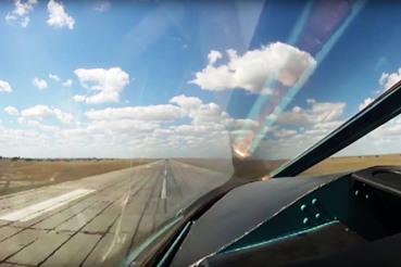 Взлетная полоса иранской авиабазы Хамадан