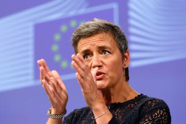 Комиссар по антимонопольной политике ЕС Маргарет Вестагер потребовала от Apple выплатить до 13 млрд евро налогов