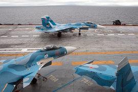 Палуба авианесущего крейсера «Адмирал Кузнецов»