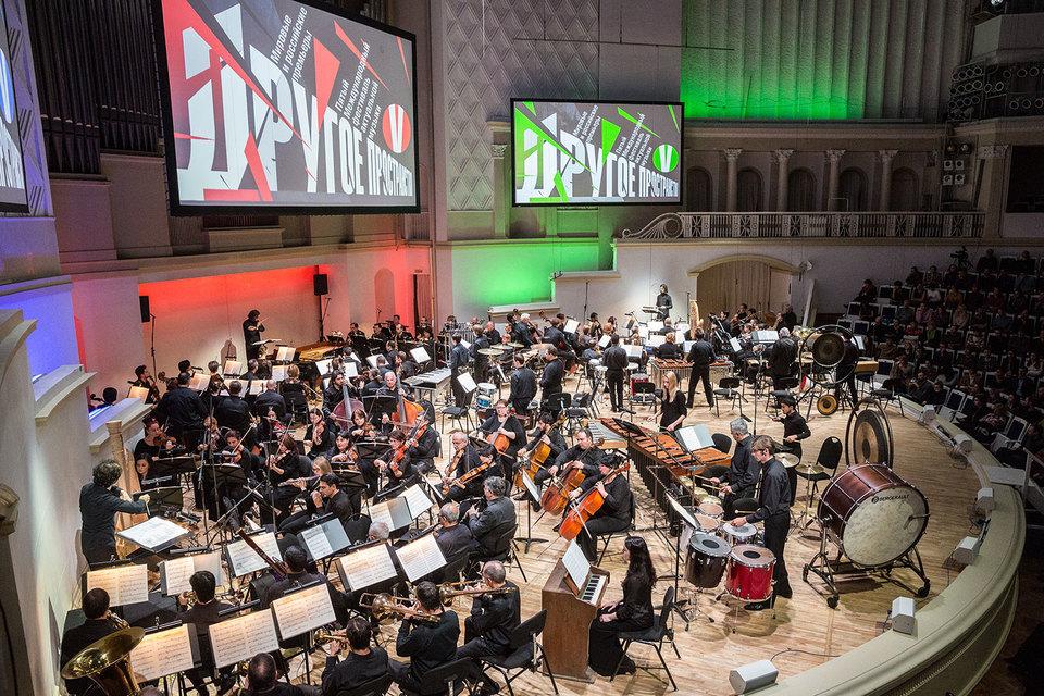 В «Группах» Штокхаузена ладят три оркестра