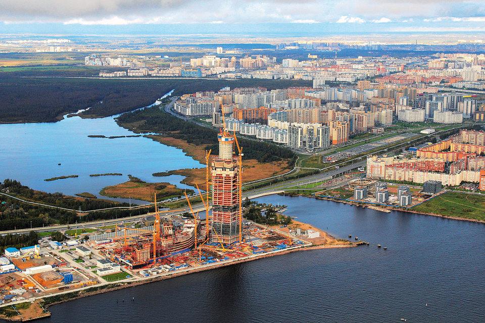 Штаб-квартира «Газпрома» «Лахта центр» строится на месте пескобазы, спрос на жилье рядом начал расти уже с момента выбора участка под строительство комплекса