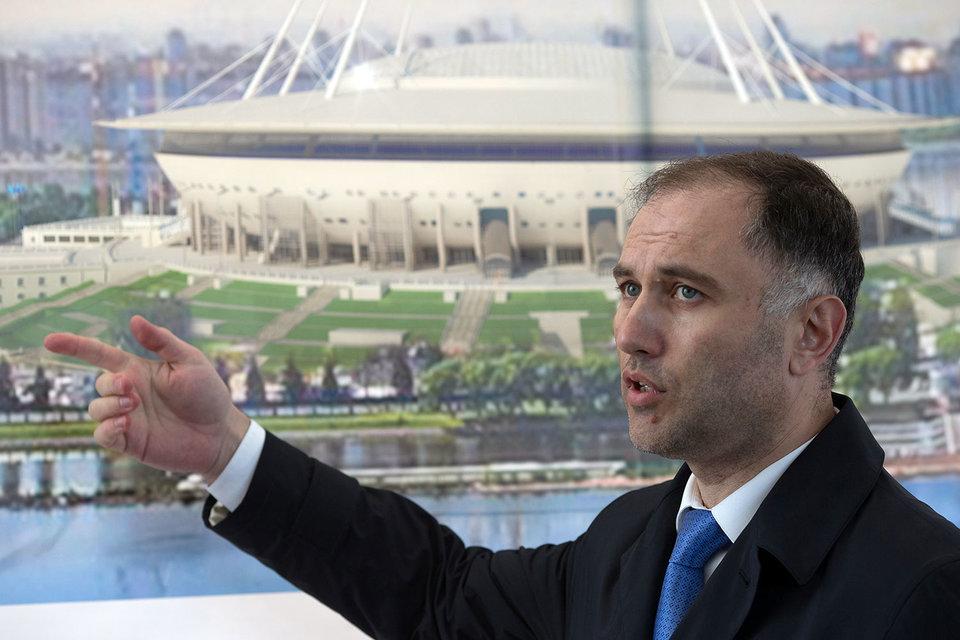 Бывший вице-губернатор Петербурга Марат Оганесян подозревается в мошенничестве при строительстве стадиона на Крестовском острове