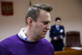 Алексей Навальный в зале суда