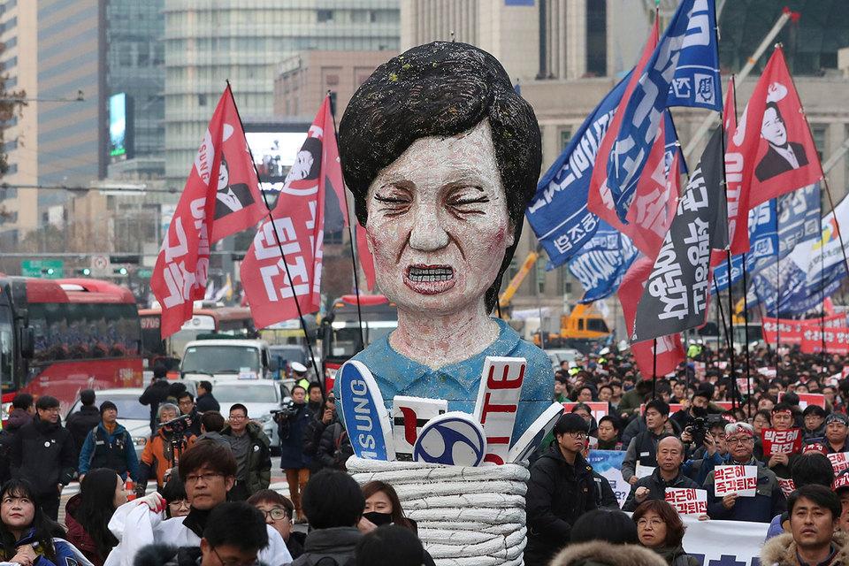 Президент Южной Кореи Пак Кын Хе заявила, что готова уйти в отставку из-за громкого коррупционного скандала