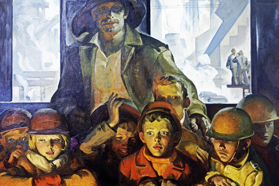 Картина «Смена» художника Петра Бортнова
