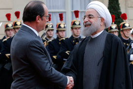 В ходе визита президента Ирана Хасана Рухани в Париж был подписан целый ряд контрактов