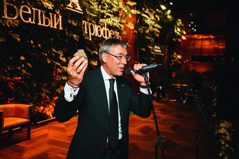 Максим Каширин на благотворительном ужине «Белый трюфель»