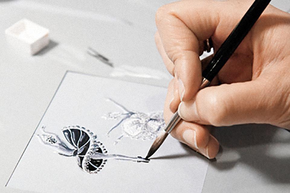 Процесс создания брошей «Одетта» и «Одиллия»