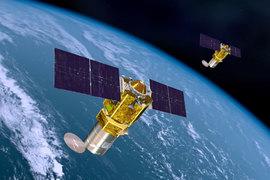 Изображение спутников Boeing 502 Phoenix на орбите