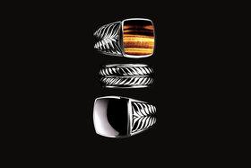 David Yurman. Перстни и кольцо из коллекции Cable Classics. Серебро, тигровый глаз