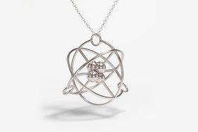 Серебряная подвеска в виде атома