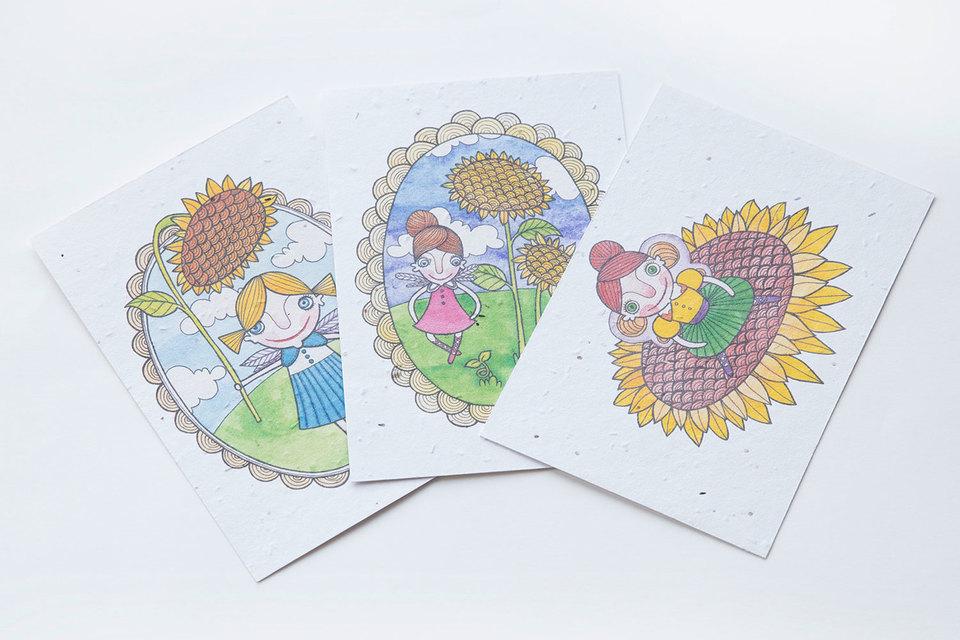 «Живые» открытки, из которых вырастают цветы