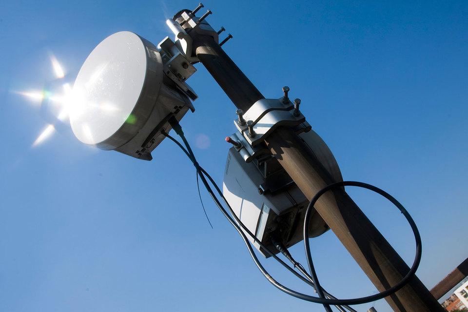 Радиорелейное оборудование создает беспроводной широкополосный канал передачи данных