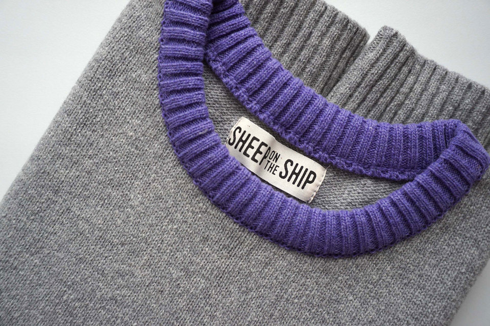 Свитер от Sheep on the ship состоит из пяти частей