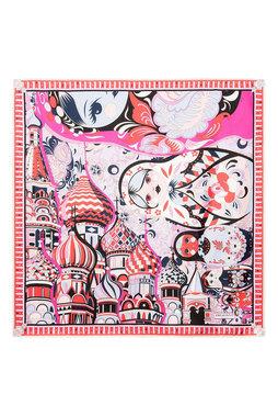Платок из серии «Города мира» с рисунком, посвященным Москве