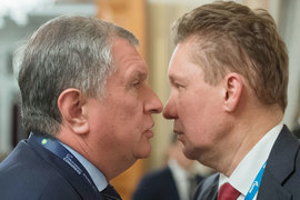 Доходы Игоря Сечина (слева) и Алексея Миллера будут зависеть от документа Минэкономразвития