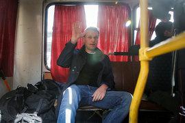 Алексей Навальный в автозаке