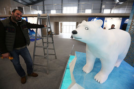 Стенд одного из участников Арктического форума  - Архангельского ЦБК