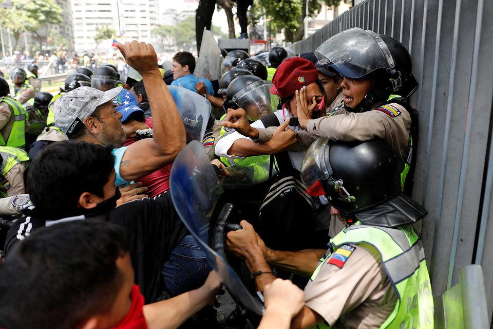 Впроцессе протестов встолице Венесуэлы пострадали 18 человек