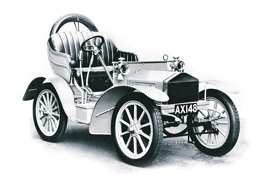 2-цилиндровый Rolls-Royce IOHP, 1904 год