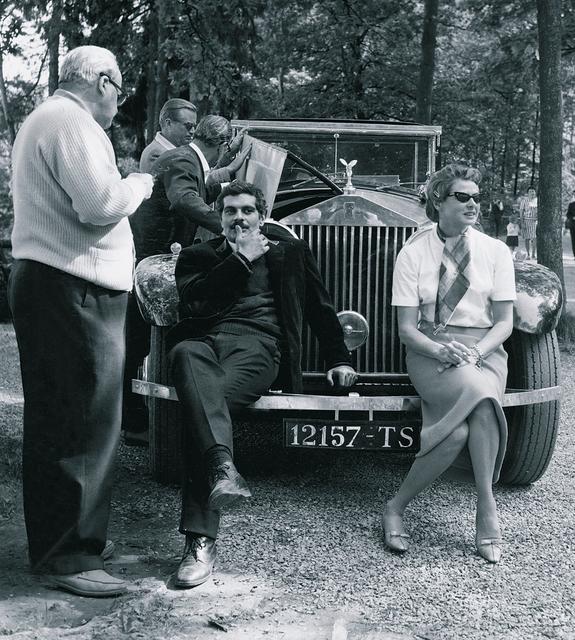 "Омар Шариф и Ингрид Бергман на съемках фильма «Желтый ""роллс-ройс"", 1964 год"