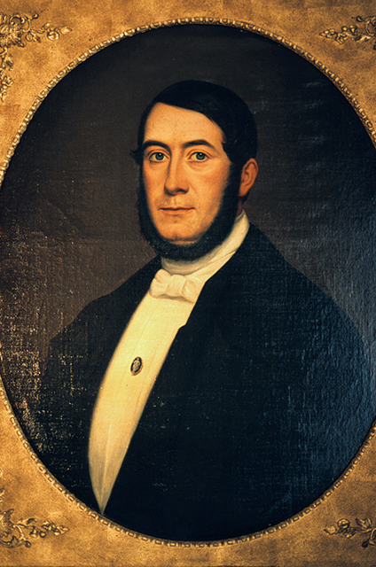 Портрет Вильяма Дойтца, одного из основателей марки Champagne Deutz