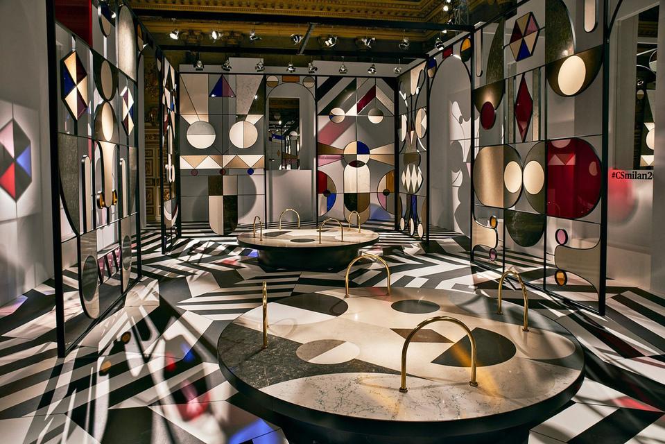 Инсталляция мебельной фабрики Caesarstone – Stone Age Folk