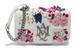 Alexander Mcqueen, сумка с цветочной вышивкой и аппликацией