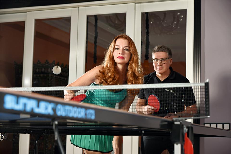 Настольный теннис как вид спорта Арсен Балаян начал воспринимать благодаря своей супруге Наталье