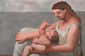 Пабло Пикассо. Портрет матери и сына на берегу моря. 1921 г